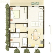 2 bedroom cottage layout