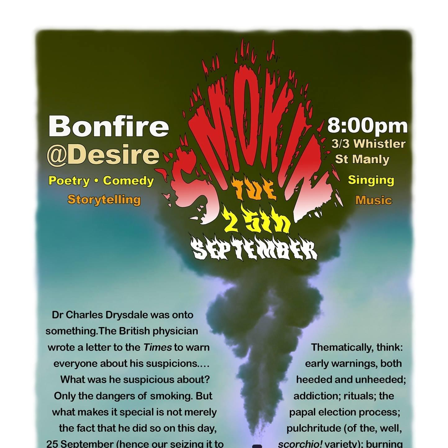 2018 September Bonfire Open Mic