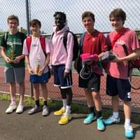 Junior tennis players from our tournament in May 2019