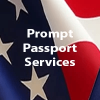 logo, prompt passport services