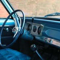 Blue Interior of 1965 Chevy Nova