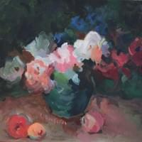 Dark Bouquet (oil on canvas)