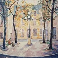 Place de Furstenberg (watercolour)