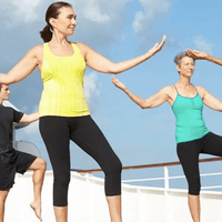Yoga on board to help you stay active