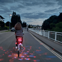 Disco party bike lights