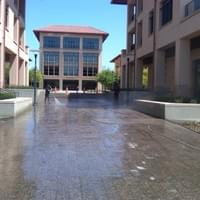 Pressure washing a commercial space -- no job is too big.