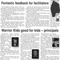 Warrior Kids good for Kids with Tim Tipene