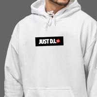 White JUST DJ Hoody