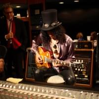 Slash of Guns & Roses recording with Bob Cutarella and Lawrence Freiberg