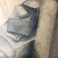 Kim Johnson Lozano (Student Charcoal Drawing)