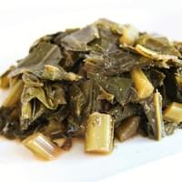 shiitake braised collard greens