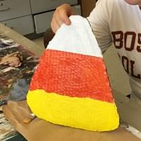Candy Corn Painting