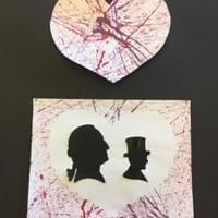 Silhouettes & Marble Painting Positive Negative
