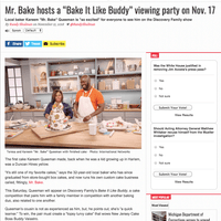 Mr. Bake inside Metro Weekly DC