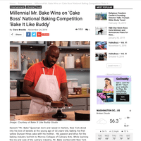 "Kareem ""Mr. Bake"" Queeman Features in Mill Buzz DC after Cake Boss  Competition Win on Discovery Family"