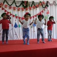 Students perform for Christmas program.