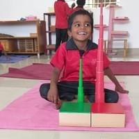 Students enjoy learning using Montessori materials.