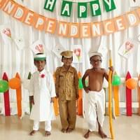 Fancy dress up for Independence Day celebration.