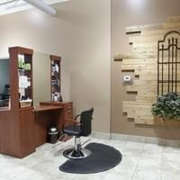 Hair station at Tranquility Spa Salon in Brooklyn Park, MN