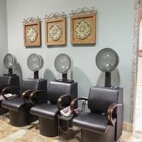 Dryer chairs at Tranquility Spa Salon in Brooklyn Park, MN