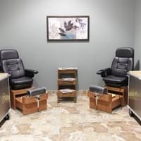 Pedi stations at Tranquility Spa Salon in Brooklyn Park, MN