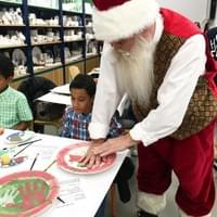Painting with Santa at Color Me Mine