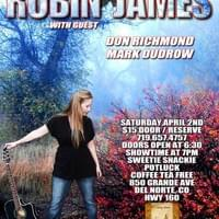 Poster - Robin James performance at Wildwood Sounds in Del Norte, Colorado