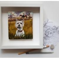 Pet Portrait recreated in clay - Mol's Tiles