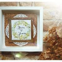 Wedding Tiles- Invitation recreated in clay - Mol's Tiles