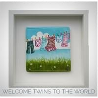 Baby Tile for Twins - Washing Line Collection, Mol's Tiles