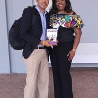 With my agent Ultiminio Ramos Castro at the International Book Fair in Panama. #visionaryleader.