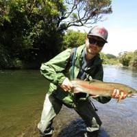 A really nice rsmall stream rainbow trout for Scott. October 2019