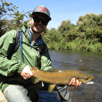 October 2019, Scott with a solid brown trout