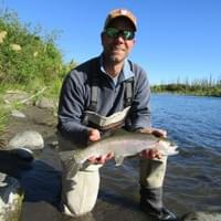 Guided fly fishing Taupo. Angler Scott White