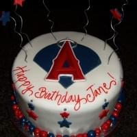 Angel's Baseball Cake