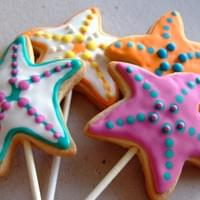 Starfish Lollipop Sugarcookies