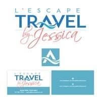 Visual Identity and branding, L'Escape Travel by Jessica