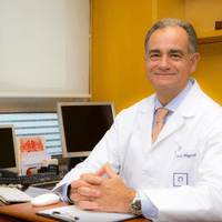 ent doctor in his medical practice in Barcelona