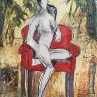 Amazon Lady in Red Chair
