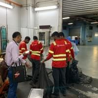 COO Dr Sandeep ensuring weight of waste is accurately recorded.