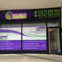 ILLUMINATED SHOP SIGN, CONTRAVISION ONE WAY PRIVACY VINYL
