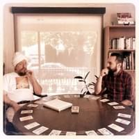 Gurucharan and Sat Narayan experimenting with the Tantric Tarot Game