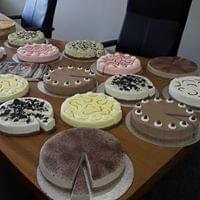 replica cheese cake selection for Conaty catering