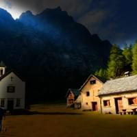 Church by the mountains