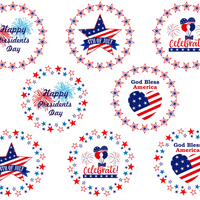 4th of july printable cake toppers