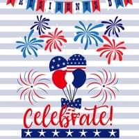 4th of july printable wall art / poster