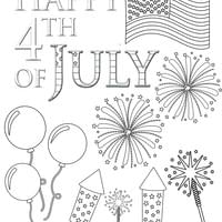4th of july printable coloring pages for kids