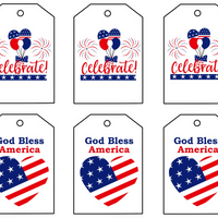 4th of july printable gift tags for party goodie bags