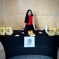 I was promoting my book! :) I love connecting with people, with my readers, when I do this, is very special to me!
