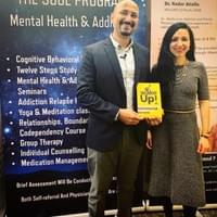 Speaking about my book at the Dr. Nader Mental Health program.
